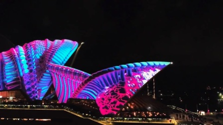 Opening Night Drone - Sydneyland and SOH_CUT - Vivid Sydney 2017