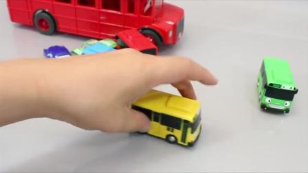小巴士英语学习数字颜色汽车玩具惊喜蛋