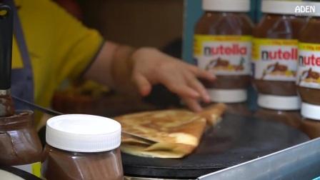 巴黎街头小吃_香蕉肉酱薄饼, 配杏仁和椰子