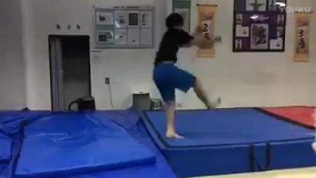 【Ingun Yoo】跆拳道 特技 空翻 训练 1