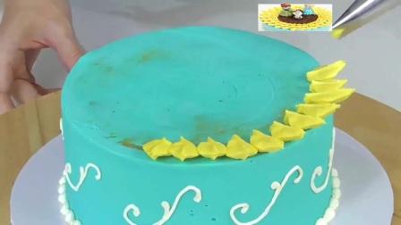 蓝色妖姬翻糖蛋糕16黑天鹅蛋糕
