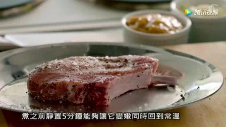 大厨拉姆齐上菜完美香煎猪排配焦糖苹果