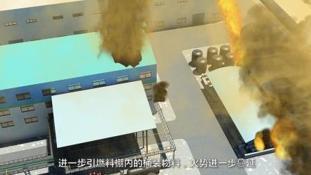 企业车间安全爆燃事故3D宣传动画
