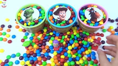 糖果冰淇淋惊喜杯玩具总动员玩具收集儿童学习视频
