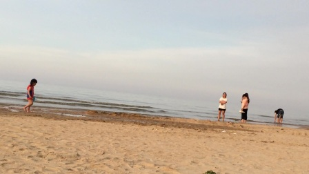 小萝莉之夕阳🌇海边🏖️沙滩