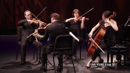 张纬晴在克莱本国际钢琴比赛上, 与 Brentano String Quartet 布伦塔诺弦乐四重奏共同演奏勃拉姆斯 - 《F小调钢琴五重奏》, Op. 34