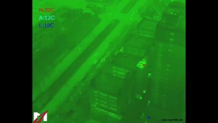 无人机热成像航拍测试效果 FLIR热成像