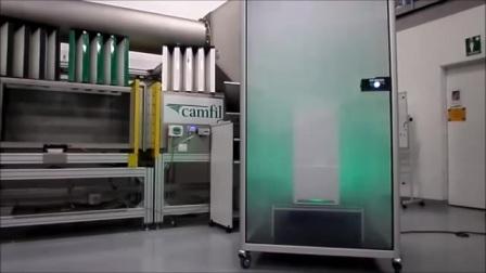 Camfil康斐尔 - City M 空气净化器 颗粒物去除效果演示
