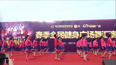 湖北大悟魅力丽霞舞蹈队《火红的萨日朗》