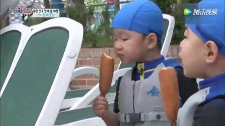 大韩民国万岁吃的热狗估计比他们的大腿还粗吧,真能吃啊