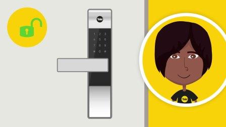 耶鲁电子锁视频:智能卡开门