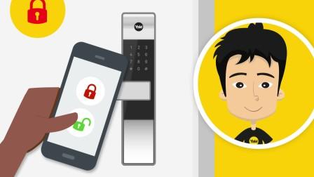耶鲁电子锁视频:手机开门