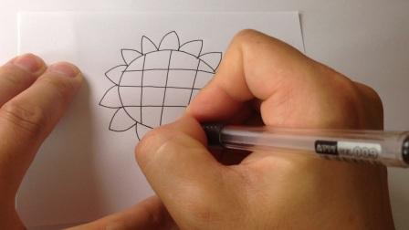 儿童学画画.简笔画向日葵花