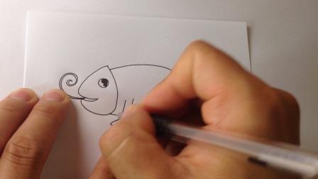 儿童学画画.简笔画变色龙