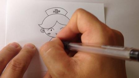 儿童学画画.简笔画-白衣天使护士