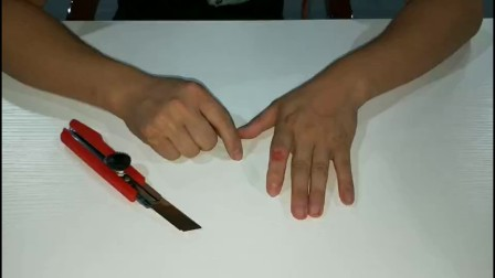 刀切手指, 伤口瞬间还原, 原来这么简单