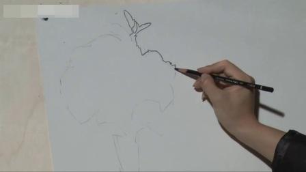速写人物教程素描基础学习心得学习速写绘画高考素描静物作品高清
