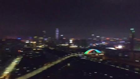 无人机航拍深圳罗湖夜景 夜拍深圳罗湖