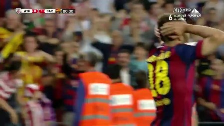 2015年5月31日西班牙国王杯决赛 毕尔巴鄂vs巴萨 梅西魔法式进球
