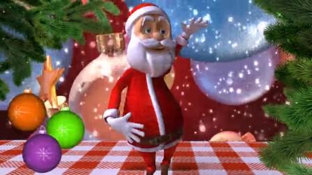 SD0003圣诞节主题 圣诞老人跳舞 圣诞树 下雪 雪人 背景视频素材