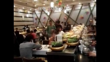 深圳某火锅城回转火锅设备视频