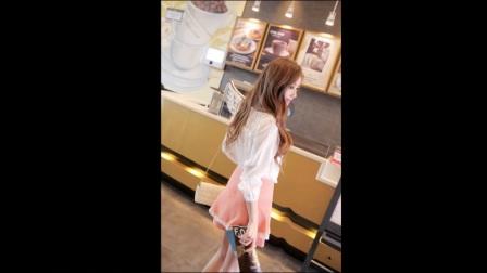 漂亮萌妹子飘飘长裙, 好身材完美呈现
