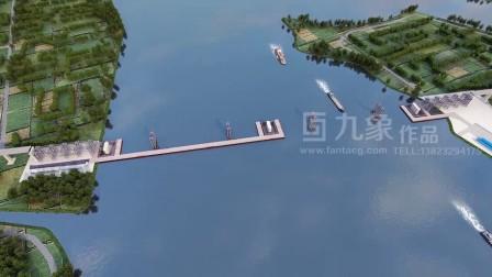 大桥桥梁施工动画演示铁路桥施工动画