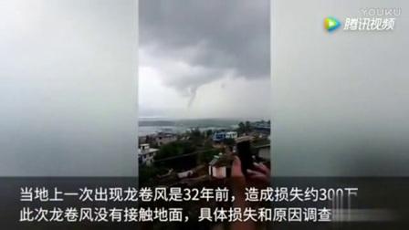实拍时隔32年云南西双版纳在现龙卷风天气_标清