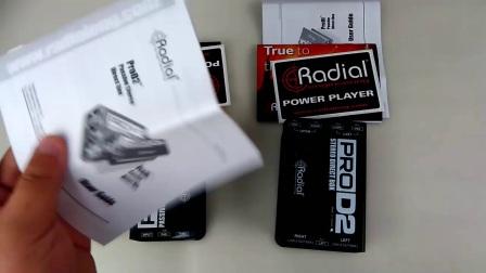 新浦电声 Radial Pro D2 双通道无源DI盒 电钢琴 合成器DI