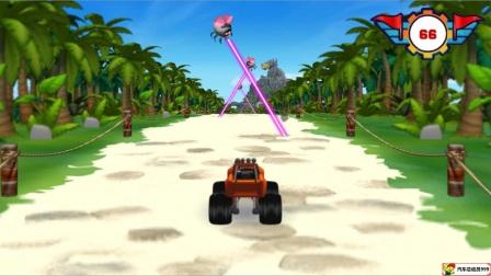 挖掘机视频表演大全6 儿童工程车表演  汽车总动员动画片中文版 大脚车越野赛