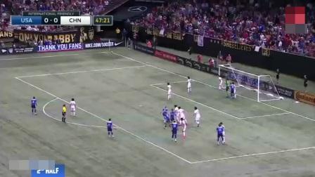 中国女足1比0战胜世界冠军美国队, 王霜临空端射破门