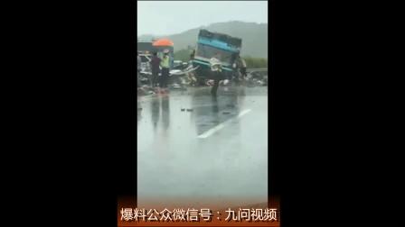 懒虫网第一现场:翻车致19人遇难 广河高速一辆载44人大巴伤员全救出