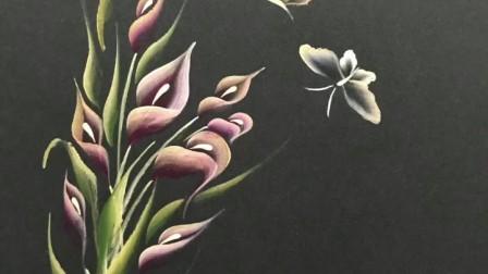 美甲排笔彩绘作品欣赏
