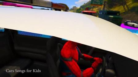 用超级英雄的漫画来学习彩色急救车