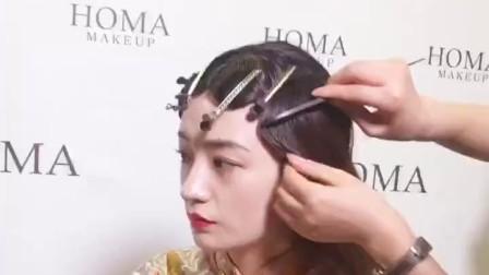 我要上热门发型美妆#中式新娘造型.课堂造型 更多请