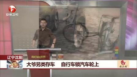 大爷另类存车 自行车锁汽车轮上 每日新闻报 20170709 高清版