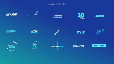 AE模板:100组字幕文本标题动画工程下载 The Titles Pack