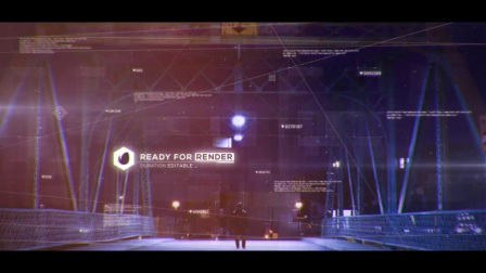 AE模板:公司数码高科技动态元素宣传动画 Digital Code Slideshow