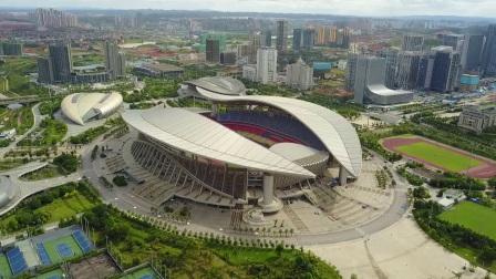 广西体育中心航拍