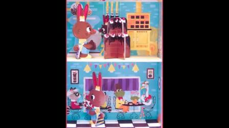 以色列Krooom小兔子面包店立体创意拼图玩具