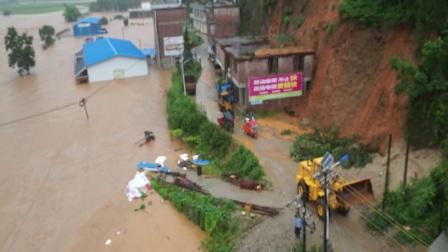 广西融水县洞头镇特大洪水