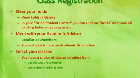 Webinar - What to Expect for Your First Month at UTD
