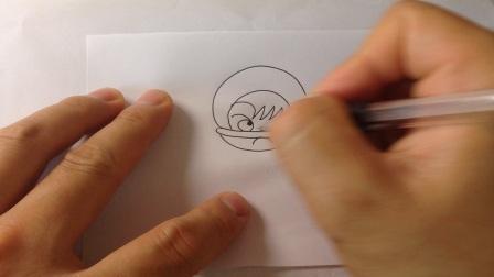 儿童卡通简笔画.体育运动类人物-橄榄球运动