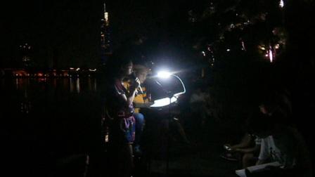 170715SAT 流行歌曲 游人 吉他伴奏 TONY大叔 环洲 月季园 湖畔木道 南京