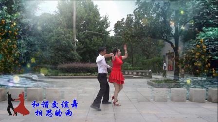湖北大悟和谐交谊舞《相思的雨》三步踩