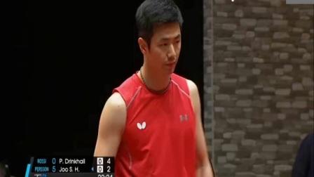 英国乒乓球-2017T2联赛朱世赫vs金克霍尔【速递版】