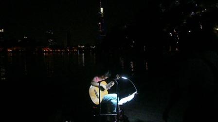 170716SUN 吉他指弹练习 TONY大叔 环洲 月季园 湖畔木道 玄武湖 南京 (7)