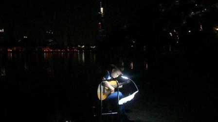 170716SUN 吉他指弹练习 TONY大叔 环洲 月季园 湖畔木道 玄武湖 南京 (8)