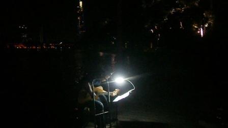 170718TUE 吉他指弹练习 TONY大叔 环洲 月季园 湖畔木道 玄武湖 南京 (9)