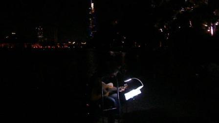 170718TUE 吉他指弹练习 TONY大叔 环洲 月季园 湖畔木道 玄武湖 南京 (5)